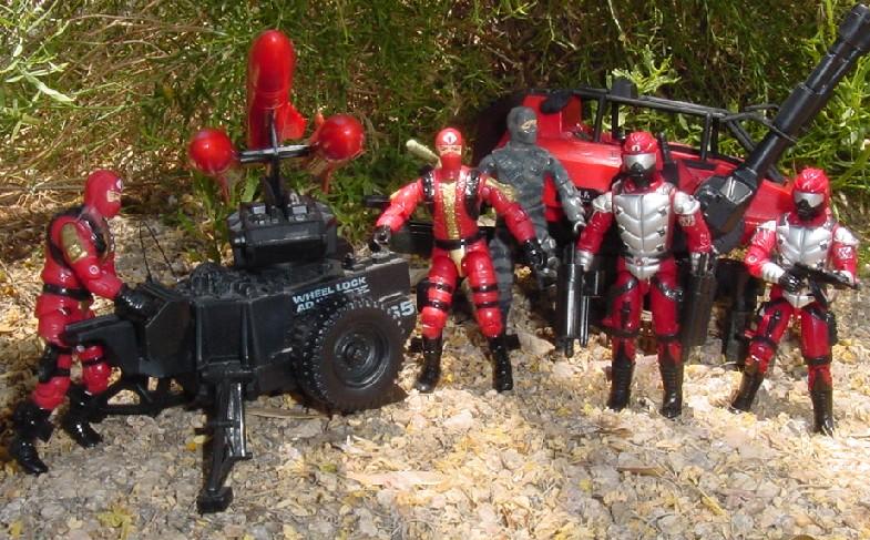 1985 SMS, Sears Exclusive, MMS, Hiss Tank, Crimson Guard, 1991 Crimson Guard Immortal, 1984 Firefly, 2002 Crimson Fast Blast Viper
