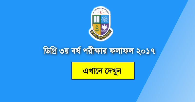 NU Degree 3rd Year Result 2017