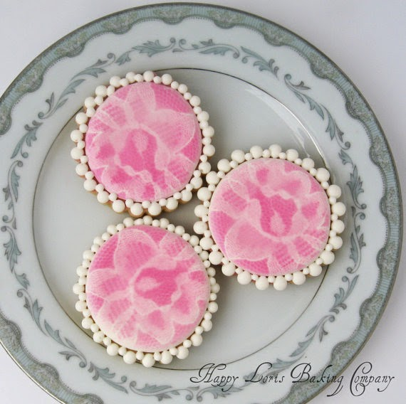 bridal shower tea party cookies