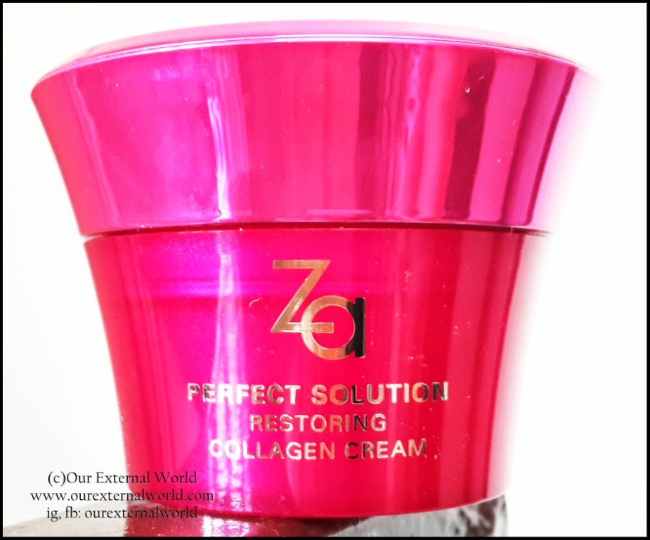 Review: Za-Shiseido Perfect Solution Restoring Collagen Cream