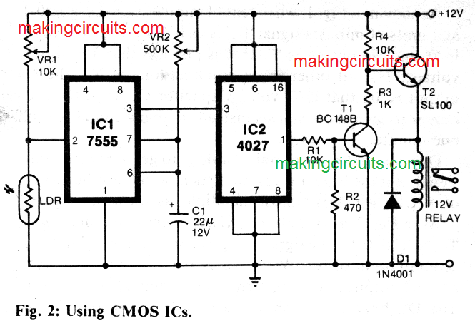 light activated remote switch circuit