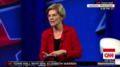 Sen. Elizabeth Warren (D-MA) told the audience at a CNN town hall last night that the electoral college should be eliminated and the popular vote should determine the presidency.