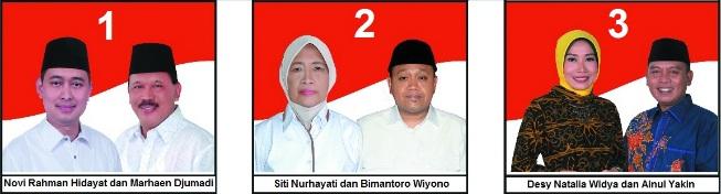 Tiga pasang calon Bupati dan wakil Bupati Kabupaten Nganjuk 2018