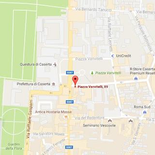 https://www.google.it/maps/place/Piazza+Vanvitelli,+89,+81100+Caserta+CE/@41.0749255,14.3293848,17z/data=!3m1!4b1!4m5!3m4!1s0x133a55b4a2567bfd:0x761fb5761e6c34c7!8m2!3d41.0749215!4d14.3315735