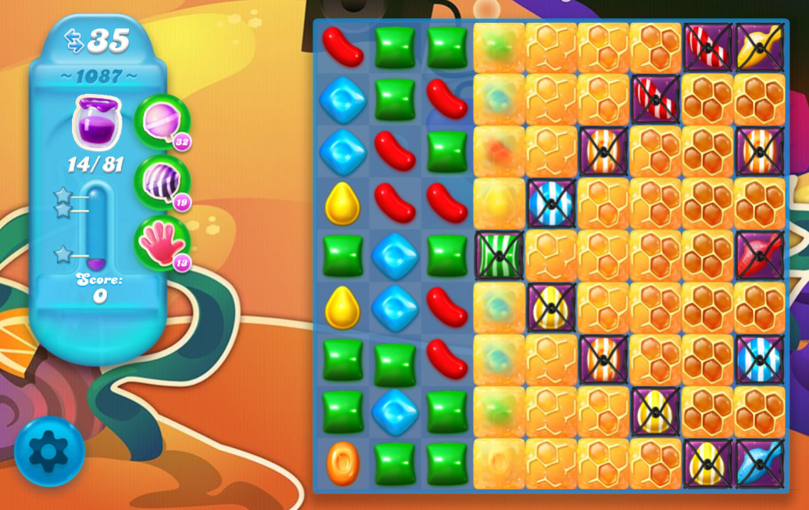 Candy Crush Soda Saga level 1087