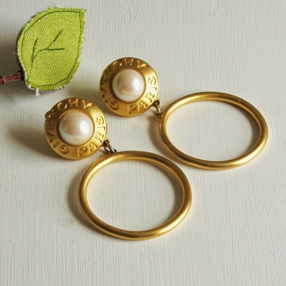 vintage, givenchy, designer, jewels, vintage earrings,