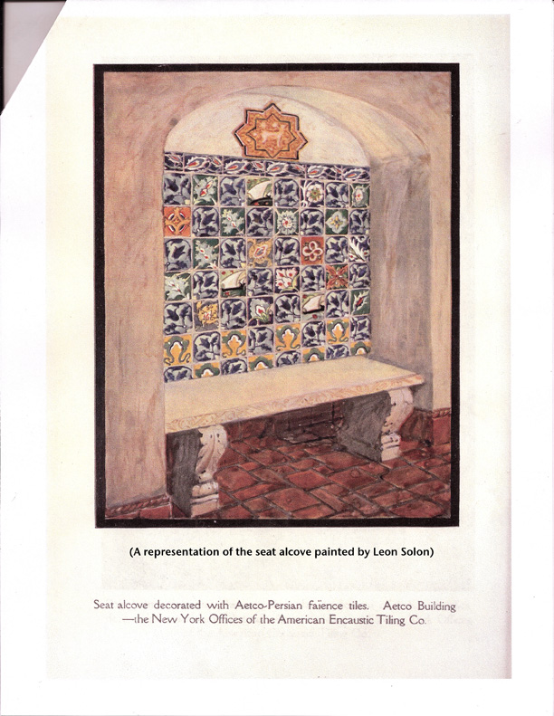Architectural tiles glass and ornamentation in new york american encaustic tiling company - Faience corridor ...
