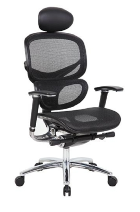 Boss High Back Ergonomic Mesh Chair with Headrest