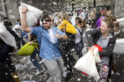 Switzerland Pillow Fight