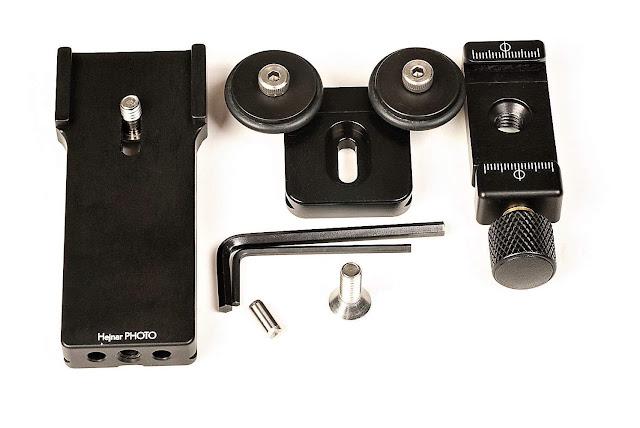 Hejnar PHOTO LLFP-FUJI-100-400 modular Lens Support components top view