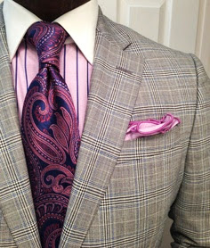 chic pink pocket square