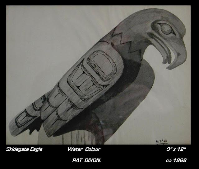 Pat Dixon painting Skitigate eagle