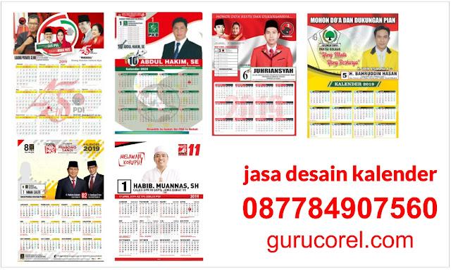 desain Kalender Partai Politik 2019