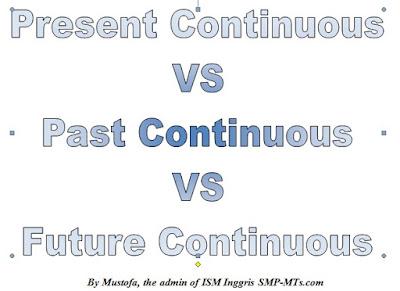 Beberapa hari yang kemudian penulis sempat memberi les suplemen Perbedaan Present Past and Future continuous