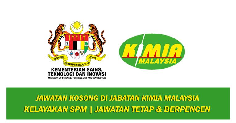 Jawatan Kosong di Jabatan Kimia Malaysia