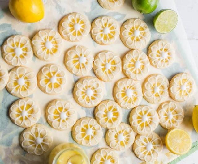 Lemon-Lime Shortbread Thumbprint Cookies #dessert #lemon
