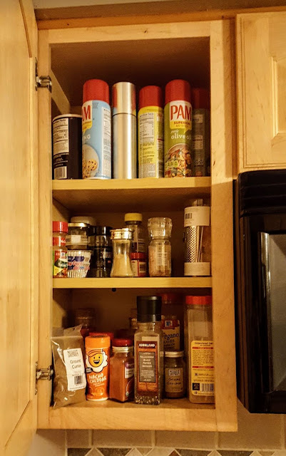 Messy Spice Cabinet, Organize Spices