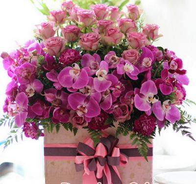 hoa sinh nhat mau tim cho nguoi menh hoa