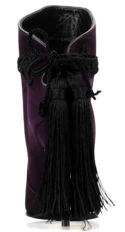 Purple Court Shoes Low Heel