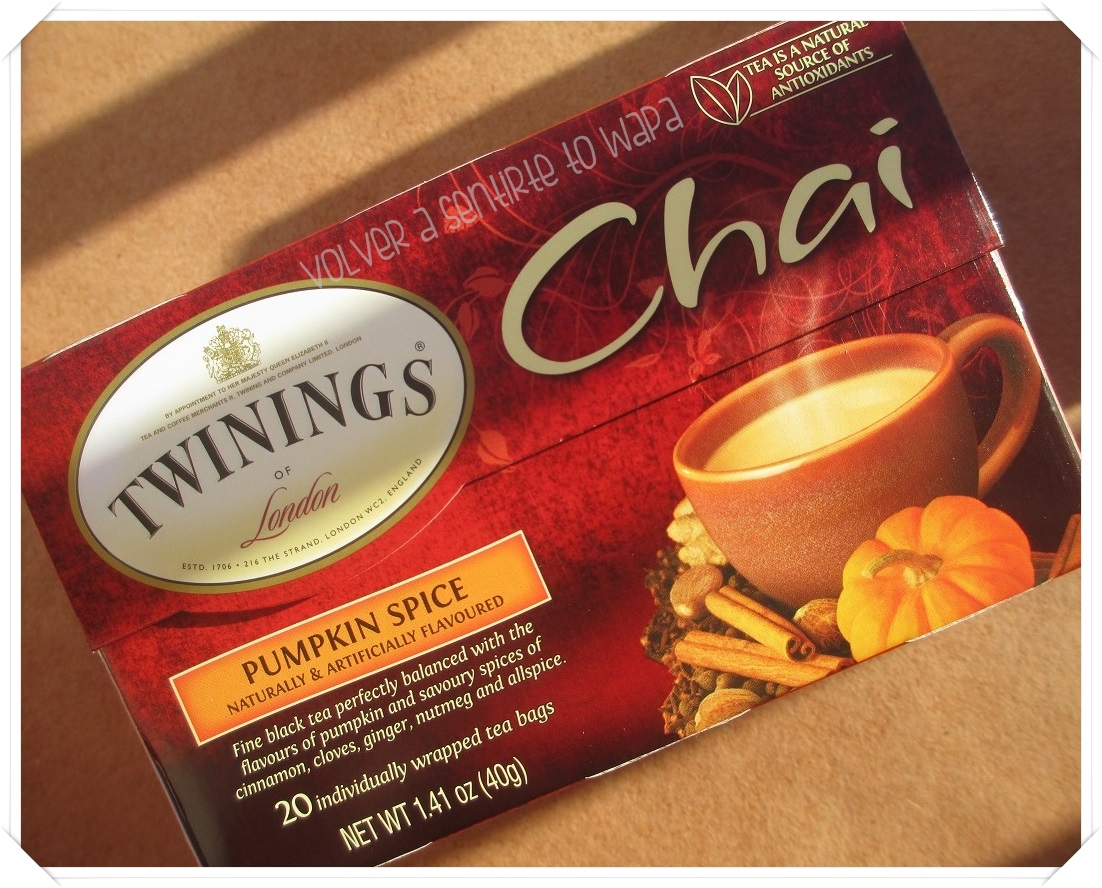 Twinings té chai con calabaza de iHerb