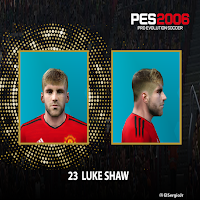 PES 6 Faces Luke Shaw by El SergioJr