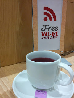 Hot Tea and Free Wi-Fi. I'm a cheap date.