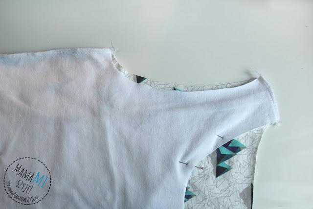 kolejność zszywania bluzki tutorial, diy, instrukcja, krok po kroku