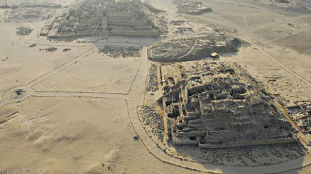 city of Caral, pyramid, ancient civilization