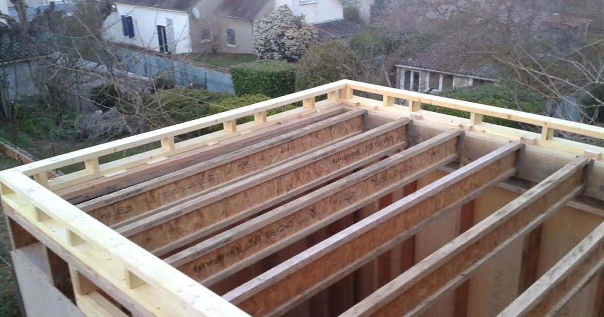 chantier en cours charpente toit plat. Black Bedroom Furniture Sets. Home Design Ideas