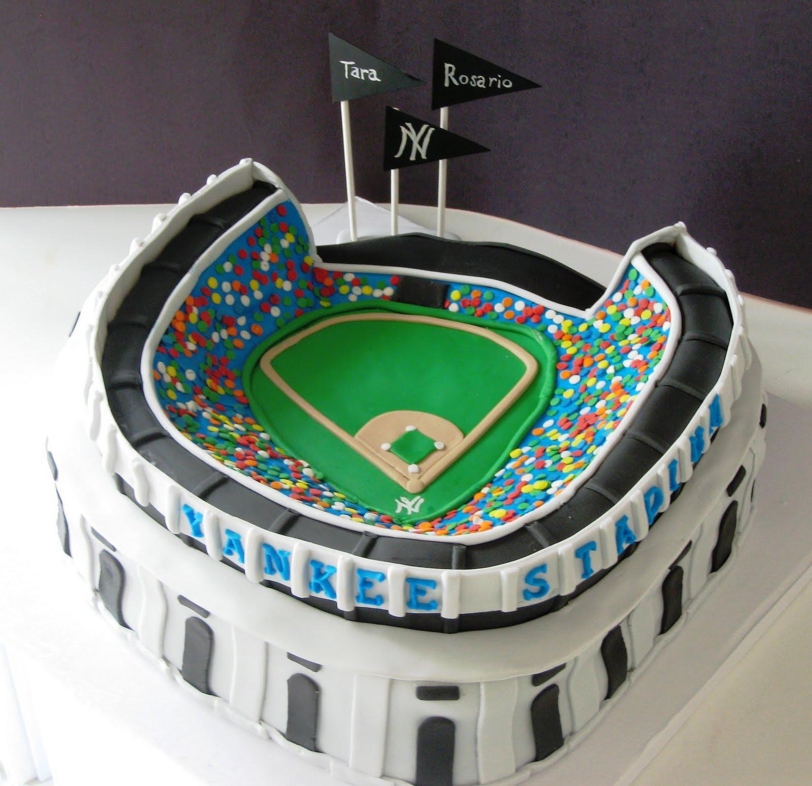 Heavenly Bites Cakes Yankee Stadium Grooms Cake
