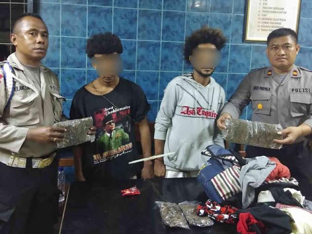 Polisi Tangkap 2 Remaja Penyeludup Ganja Kering ke Sorong