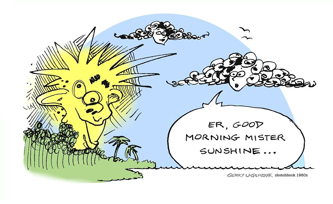 Good Morning Mr Sunshine cartoon