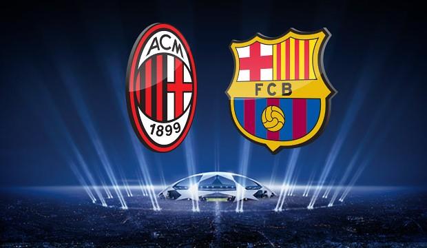 موعد مباراة برشلونة وميلان كأس الأبطال الدولية والقنوات الناقلة