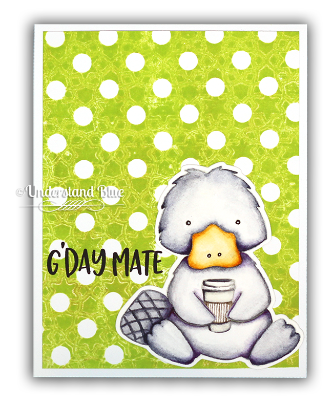 Platypus with Coffee - Textured backgrounds by Understand Blue