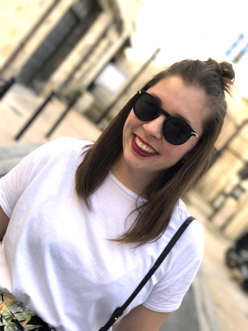 t-shirt blanc stradivarius, trio bag céline et lunette de soleil Asos