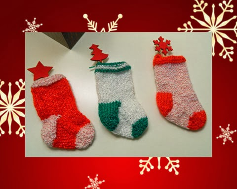 Free Knitting Pattern For Mini Christmas Stocking Stitches By Debbie