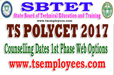 TS Polycet Counselling dates 2017 1st Phase Web Options Seat allotment certificate verification