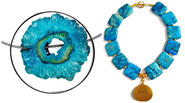 dressing for Wimbledon 2017, turquoise, statement necklace