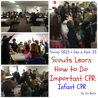 Scouts Learn CPR, Infant CPR, CPR