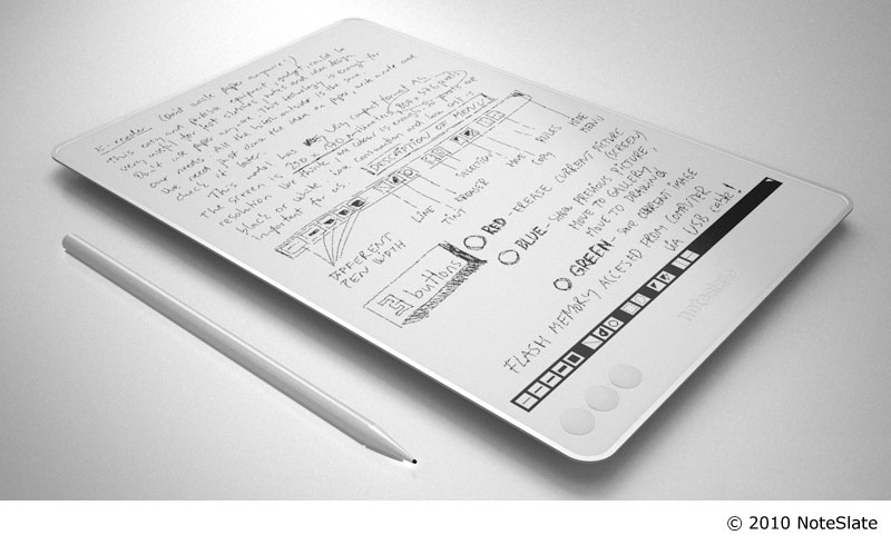e ink tablet writing applications