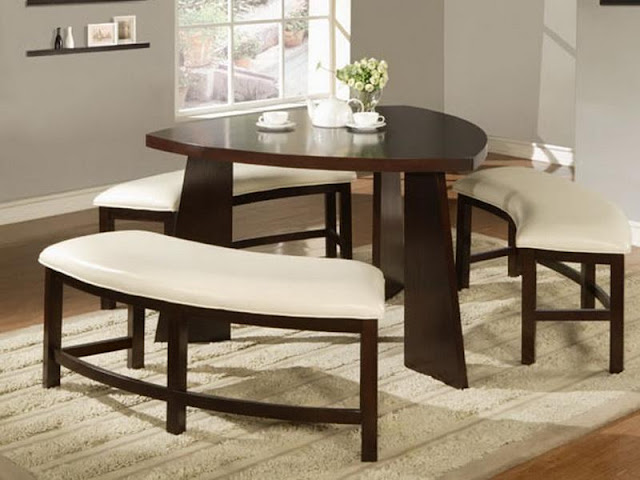 Modern Room with Round Dining Tables Modern Room with Round Dining Tables round dining table with bench on dining room round table with wench 2