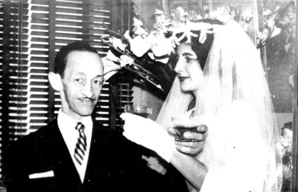 Casamento com D. Rosalina, em 1960.