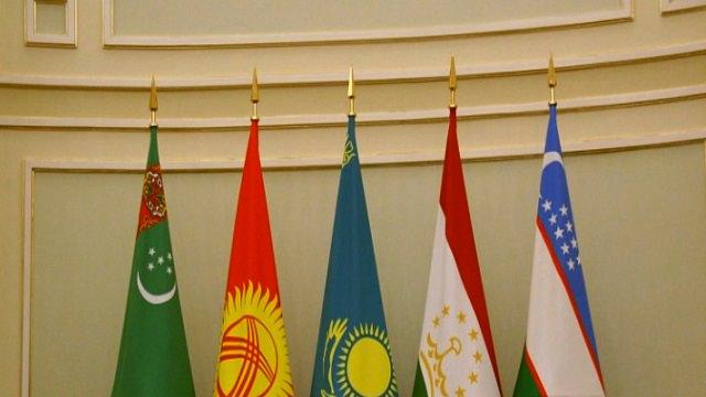 Флаги стран Центральной Азии