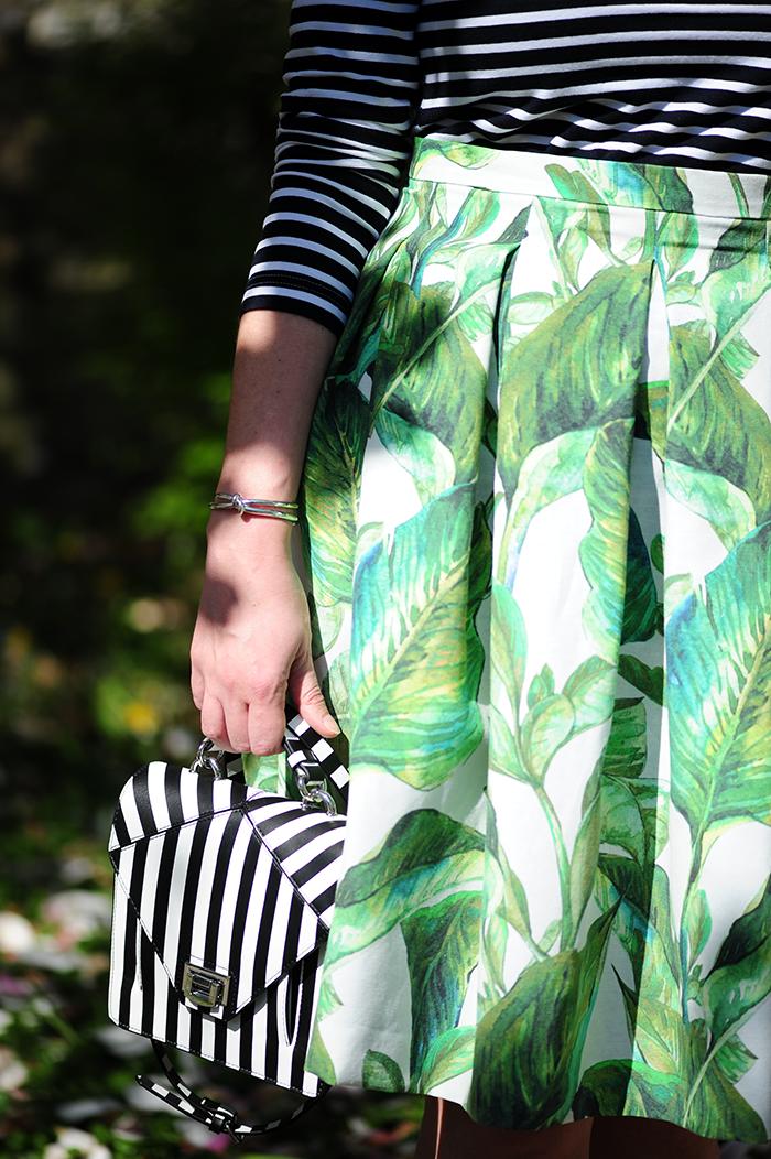 DIY, sewing, nähen, Burda style, stripes, Streifen, palmprint, palmleaf, Palmendruck, Stoff&Stil, Dolce&Gabbana