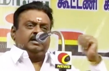 Vijaykanth campaigning at Virudhunagar