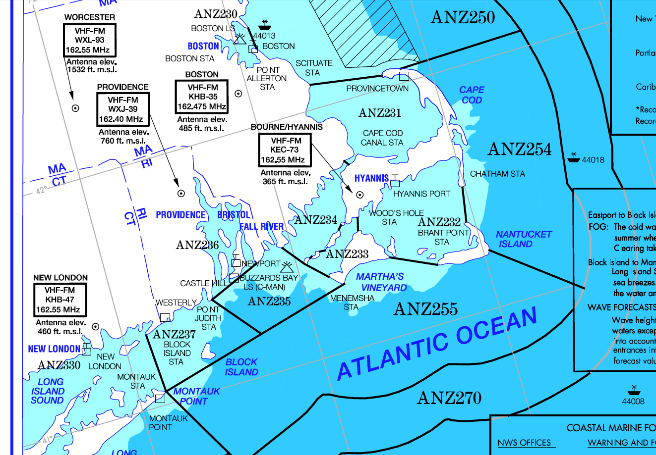 David Burch Navigation Blog: Marine Weather Services Chart — How to