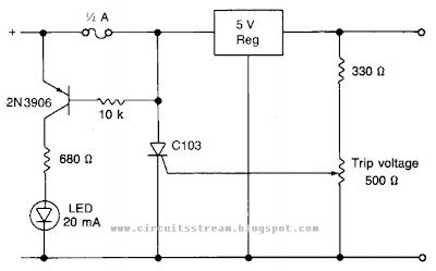 Power supply Protection Circuit Diagram
