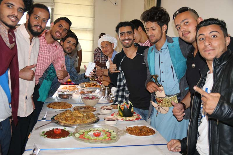 International students display food made by them during International Culinary fest at PCTE
