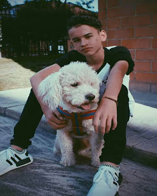 pose sentado con perro