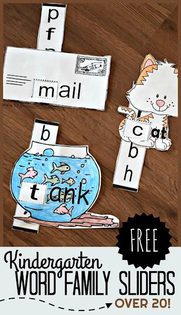Kindergarten-word-family-sliders